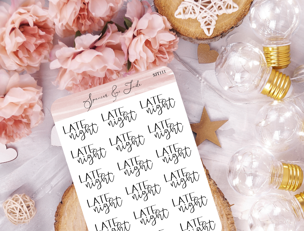 Late Night - Script Planner Stickers