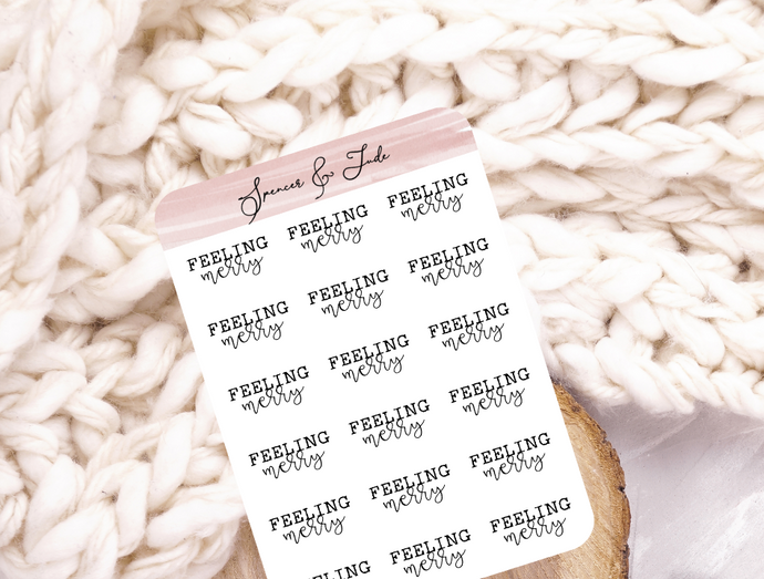 Festive Emotions - Merry - Feeling Word Script Planner Stickers