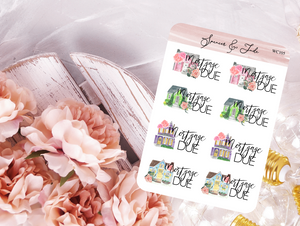 Mortgage Due Planner Stickers