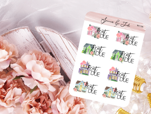 Rent Due Planner Stickers