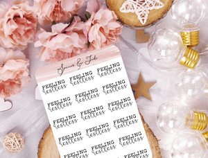 Emotions - Restless - Feeling Word Script Planner Stickers