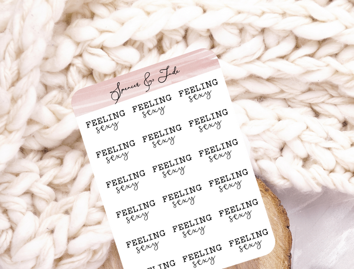 Emotions - Sexy - Feeling Word Script Planner Stickers