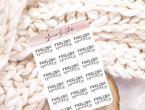 Festive Emotions - Sparkly - Feeling Word Script Planner Stickers