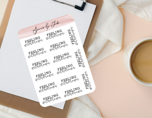 Emotions - Withdrawn - Feeling Word Script Planner Stickers