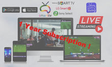 "Load image into Gallery viewer, 1 Year - Global ""Worldwide"" IPTV with more than 4000+ Channels and 4000+ VOD"