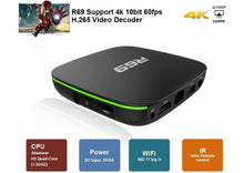 Load image into Gallery viewer, R69 android 4k tv box CPU Allwinner H3 1GB RAM + 8GB  ROM