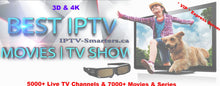 "Load image into Gallery viewer, VIP Express subscription - Global ""Worldwide"" IPTV with more than 5000+ Channels and 7000+ VOD - Full HD - 3D & 4K"