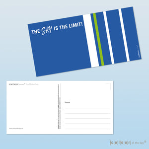 "Postkarte ""The sky is the limit!"""