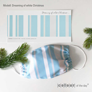 "Limitierte Weihnachtsedition: Face Cover & Grußarte ""Dreaming of white Christmas"""