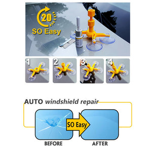DIY Car Window Repair Tools Windshield Glass Scratch Repair Kits Windscreen Crack Restore Window Screen Polishing Car-styling