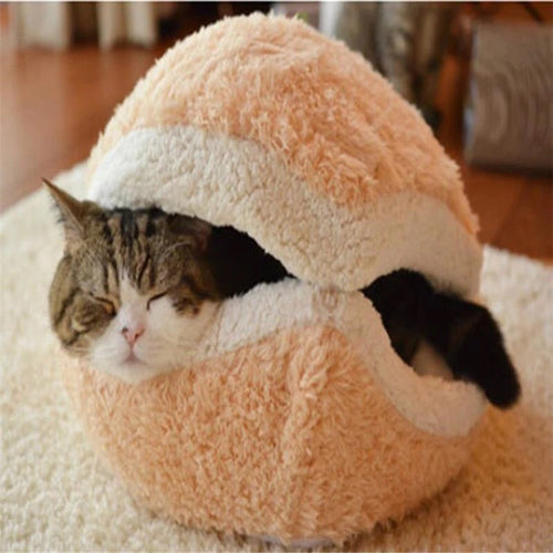 Cat Bed Hiding Burger