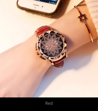 Load image into Gallery viewer, Rose Gold Women Watch Fashion Leather Strap