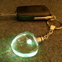 Load image into Gallery viewer, Crystal Key Flashlight Chains