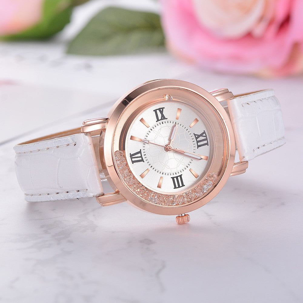 Rhinestone Leather Women Watches Limited Offer