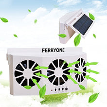 Load image into Gallery viewer, Ferryone Solar Powered Car Window Air Vent Ventilator,with Three-headed Fan ,Clear