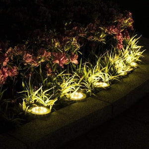 4Pcs 4 LED Solar Powered Ground Lights Outdoor lamp Waterproof LED