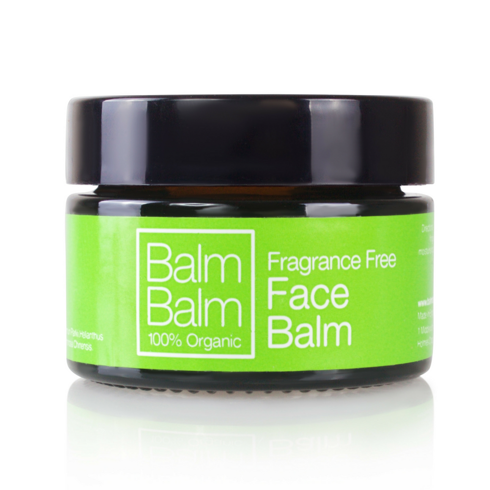 Balm Balm Fragrance Free Face Balm 30ml Made from shea butter, sunflower, beeswax, jojoba & calendula, gently melted together to create a medium soft balm formulation to soothe, moisturise and nourish. This product is fragrance free and is ideal for extremely sensitive skins. So gentle that it can even be used on new born babies as a multi purpose moisturiser that takes up next to no space in your bag it's the perfect answer to all yours and your babies moisturising needs. Flawless Organics.