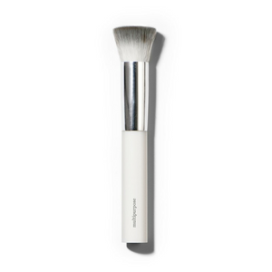 Ere Perez Eco Vegan Multipurpose Brush. The best brush for all liquid and cream products. Stylish and Eco, made with vegan bristles and a biodegradable corn resin handle. This brush makes it easy and hassle free to apply wet products to the face – no drips or mistakes. Blends well and offers a smooth coverage. Organic beauty. Vegan. Vegan Beauty. Flawless Organics. Cruelty Free. Against animal cruelty. Award Winning. Natural. Makeup.