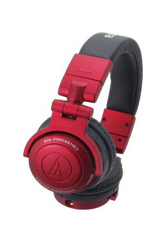 Audio-Technica ATH-PRO500MK2 Professional Monitor Headphones - Red