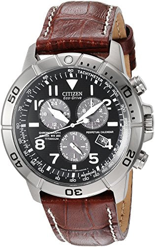 Citizen Men's Eco-Drive Titanium Chronograph Watch with Perpetual Calendar and Date, BL5250-02L