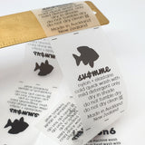 TRANSPARENT PU SWIMWEAR LABELS - Labels by Shelley