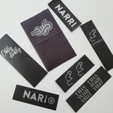 *CUSTOM PRINTED LOGO LABELS [BLACK SATIN/GOLD OR MATTE SILVER PRINT]
