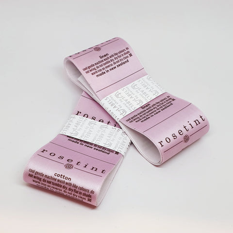 *CUSTOM PRINTED ALL-IN-ONE LOGO/CARE/SIZE LABELS [SATIN/FULL COLOUR PRINT]