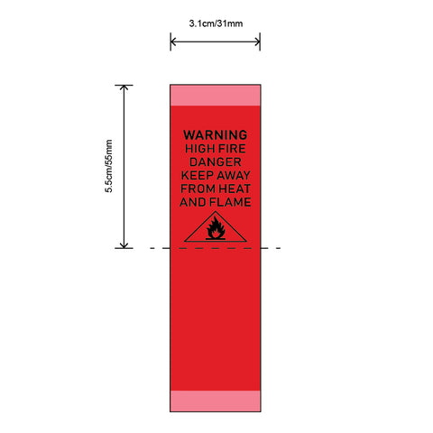 RED FIRE WARNING LABELS FOR CHILDREN'S NIGHTWEAR - Labels by Shelley