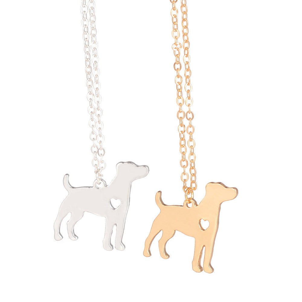 Jack Russell Terrier Dog Necklace | Gold, Silver