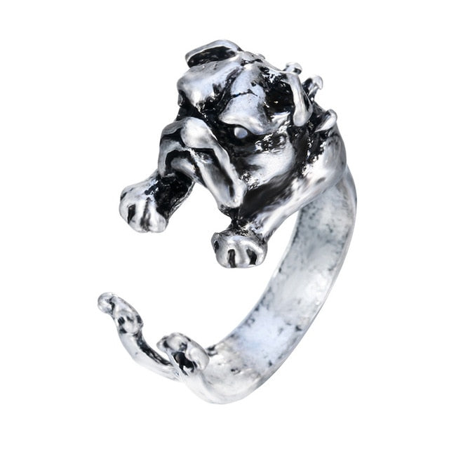 Handmade Cute Dog Wrapped Around Your Finger Ring
