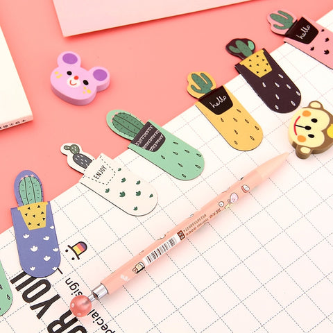 Magnetic Bookmark and Paperclip - Succulents - Package of 3