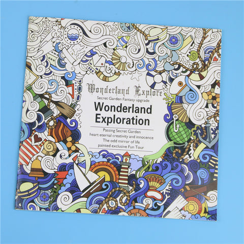 Wonderland Exploration Colouring Book