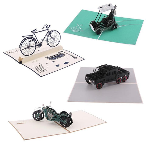 3D popup laser cut greeting cards