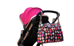 Insular Baby Nappy Bag Hanging on Pram