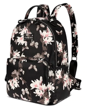 Leather look baby nappy backpack flower design
