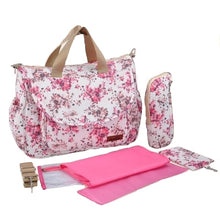 Insular baby nappy bag pink flowers