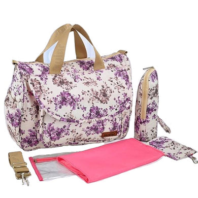 Insular Baby Nappy Bag Purple Floral design