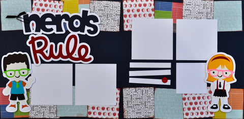 12x12 Premade Layout - Nerds Rule