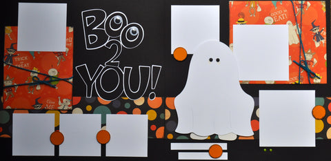 12x12 Premade Layout - Boo 2 YOU!