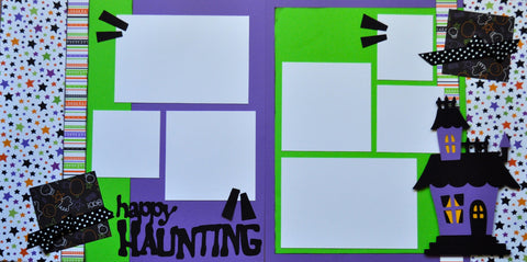 12x12 Premade Layout - Happy Haunting