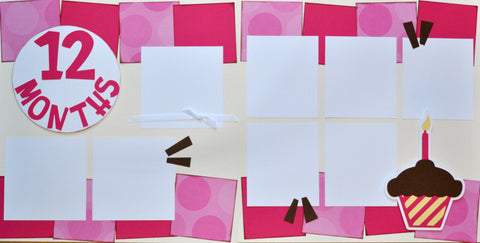12 Months (pink) - 12x12 Scrapbook Page Kit