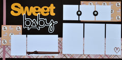 Sweet baby (pink) - 12x12 Scrapbook Page Kit