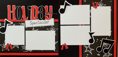 12x12 Premade Layout - Holiday Spectacular