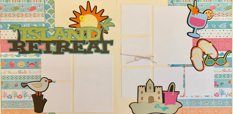 Island Retreat - 12x12 Scrapbook Page Kit