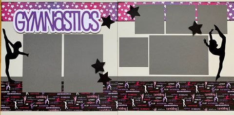 12x12 Premade Layout - Gymnastics