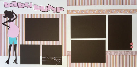 12x12 Premade Layout - Baby Bump