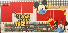I miss your face (Disney) - 12x12 Scrapbook Page Kit