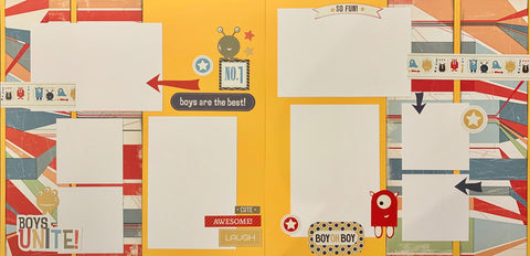 12x12 Premade Layout - Boys are the Best! (Sticker kit)