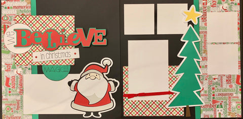 12x12 Premade Layout - We Believe in Christmas Magic!!!