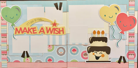 It's your birthday... Make a Wish - 12x12 Scrapbook Page Kit